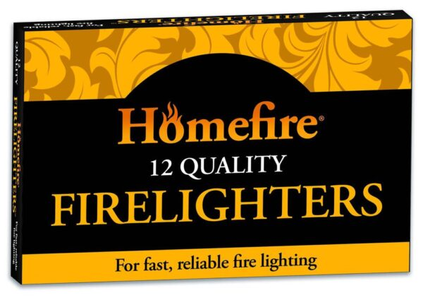 Homefire firelighters, 12 natural quality firelighters (x4)